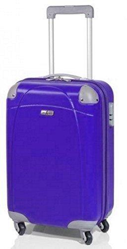 maleta con ruedas - Cubierta dura - 77 cm, 95 Litros, Sólo la luz XL 4,3 kg, Rodillo 4, Color: Lila