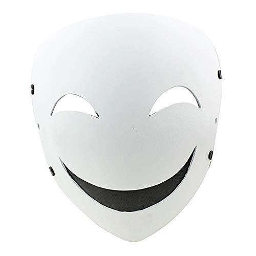 (Maske YN Halloween Horror Skorpion weiße schwarz Kugel Schatten Clown Naruto Cosplay FRP)