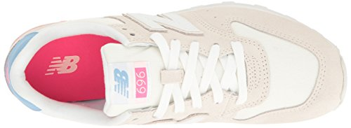 New Balance  696 Lifestyle Fashion Sneaker, Damen Sneaker Sea Salt/White Sea Salt/White