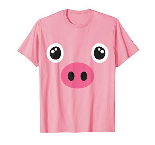Schwein Kostüm Halloween Shirt Schweinchen Tier Ferkel  T-Shirt (Halloween-kostüm Macht Und Einfach Spaß Ideen)
