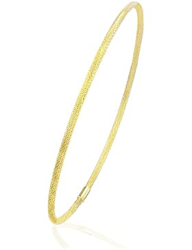 Citerna Damen Armreif 9 Karat (375) Gelbgold Diamantschliff 6,5cm