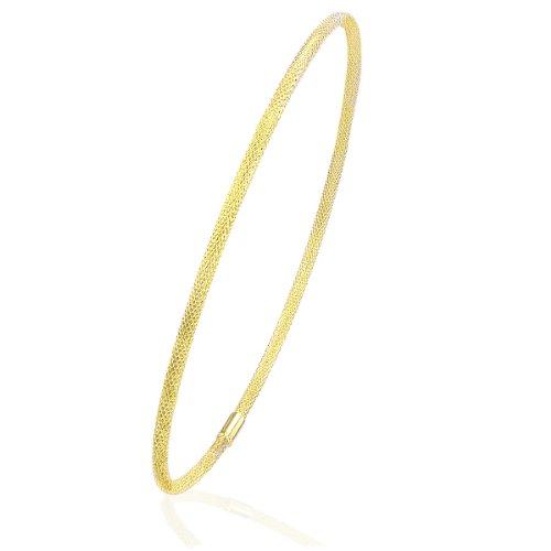 Citerna Damen-Armreif 375 Gelbgold 9 Karat Diamantschliff 6, 5cm