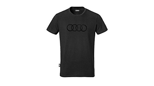Audi Herren T-Shirt Ringe schwarz (XXL)