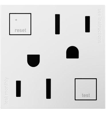 pass & Seymour AGFTR2152W4Self-test Gfci Outlet, bianco, 15-amp 1 Infradito colorati estivi, con finte perline