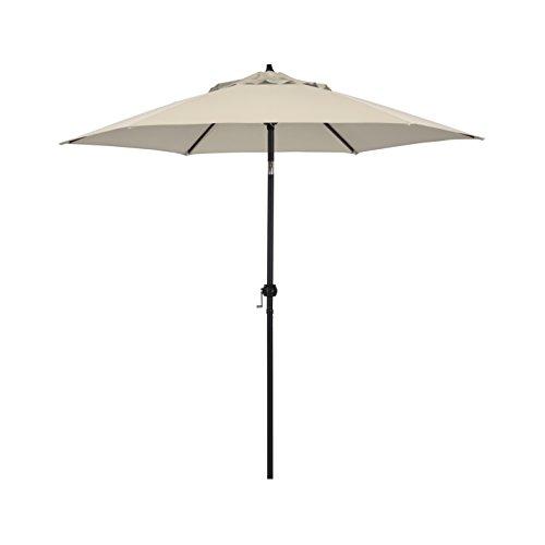 Astella 9' Rd Crank Open Tilting Market Umbrella, Antique Beige - 9' Market Umbrella Base