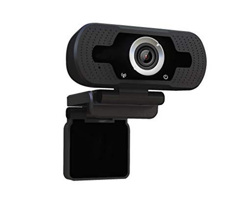 Dericam 720P HD Live-Streaming-Webcam, USB Desktop und Laptop Webcam, Mini-Plug-and-Play-Videogesprächen Computer-Kamera, Eingebautes Mikrofon, Flexible Drehbare Clip, W1, EU, Schwarz