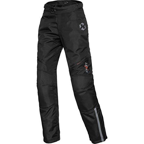 DXR Motorradschutzhose, Motorradhose, Bikerhose Damen Tour Textilhose 5.0, Motorradhose Damen, wasserdicht, Winddicht, atmungsaktiv, Thermofutter, weitenverstellbarer Bund, Schwarz, XS