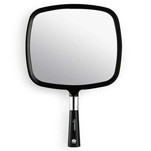 Easehold Espejo de Mano Maquillaje de Peluquería Profesional Salón (Negro)