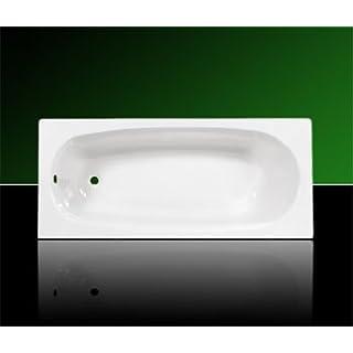 Acryl Badewanne Wanne Rechteck Rechteckwanne 170 x 75 inklusive Ablauf und Überlauf und Träger