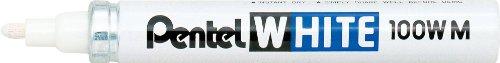 pentel-100-wm-marqueur-peinture-indelebile-a-pointe-conique-moyenne-blanc