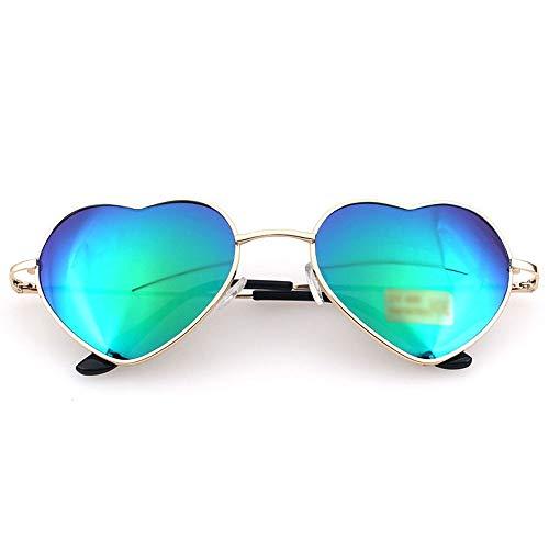 Szblk Sonnenbrillen Driving Sonnenbrillen Angeln Sonnenbrillen Heart Shaped Siamese Sonnenbrillen Persönlichkeit Cute Fashion Heart Shape (Color : Green)