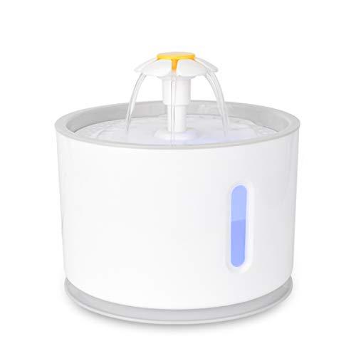 Iseebiz Fuente Gatos,Bebedero Automatico para Mascota con Gran Capacidad de 2.4litro Dispensador de Agua Sin Ruido