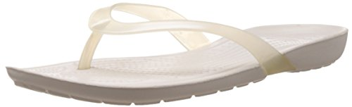 Crocs Women's Really Sexi Flip-Flop Oyster and Oyster Rubber Flip-Flops and House Slippers - 4 UK  available at amazon for Rs.1800