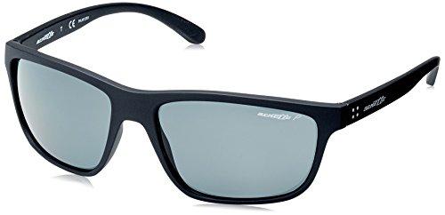 Arnette booger, occhiali da sole unisex adulto, nero (matte black/grey), 61