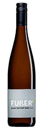 6 x Blanc de Pinot Noir feinherb 2017 im Vorteilspack Martin & Georg Fußer, trockener Weisswein aus der Pfalz
