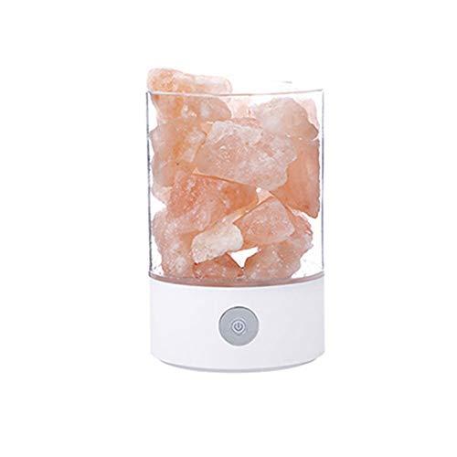 tallsalzlampe, Natürliche Negative Ionensalzlampe, Helligkeitsanpassungsfunktion, Buntes Nachtlicht, Einfaches Gesundes Luftreinigungsschlafzimmer-Geschenklicht ()