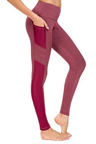 New Mincc Leggings de Sport pour Femme Pantalon Yoga Fitness Minceur Long avec Poches Basique élastique Running Skinny, D Rose 1988 Fba, S