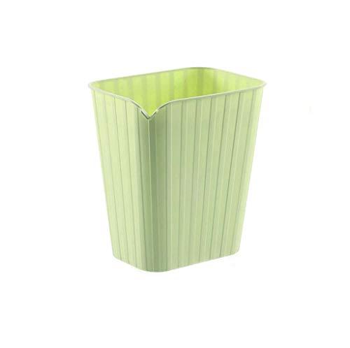 LWLGXF Kunststoffbehälter, Mülleimer aus strapazierfähigem Kunststoff, praktische Aufbewahrungsbox für Bad, Küche oder Pantry-Papierkorb,Green -