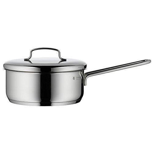 WMF Mini Stielkasserolle mit Metalldeckel, klein, 16 cm, 1,2l, Cromargan Edelstahl poliert, Induktion, stapelbar, ideal für kleine Portionen oder Singlehaushalte