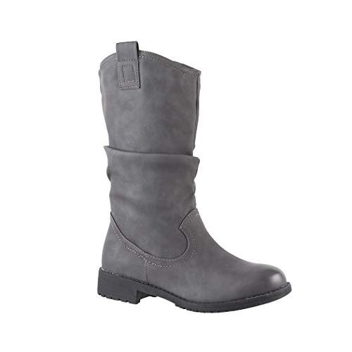 Elara Women Cowboy Biker Boots Chunkyrayan 3.5 UK