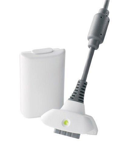Dcolor Kit de Uso & Carga para Xbox 360 - Bateria y Cable de Carga (Blanco)