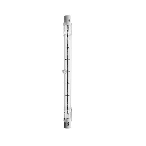 5 x BELL 03845 240 Watt Wolram-Halogen-Glühlampen 117 mm, Linear, R7, Transparent, 2700 K, AC 230V, inkl. 2 30/(DE) 24 LED Taschenlampe mit Schlüsselring