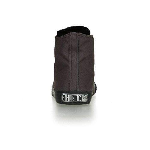 Ethletic Black Cap vegan HiCut - Farbe pewter grey / black aus Bio-Baumwolle Größe 39 - 4