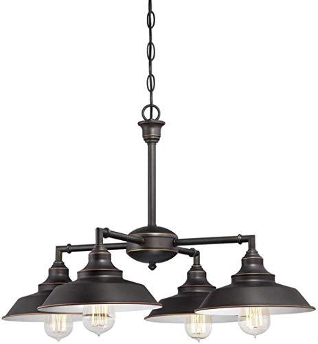 Hängelampe leuchtet Innen Convertible Spinnen- / halb-Deckeneinbauleuchte, gebürstet Bronze-Finish Öl und Metallic-Töne, freier Raum nach innen -