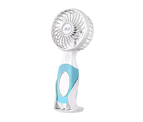 Yuang Handheld Small Fan Mini USB Wiederaufladbare 3600 mAh Tragbare Mute Wind Office Home Reise Sommer Essentials (Farbe: Blau) -