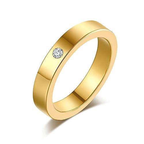 ZHOUYF RING Verlobungsringe Titan Edelstahl Ringe Für Frauen Einfachheit Zirkonia Modeschmuck Großhandel, A, 6#