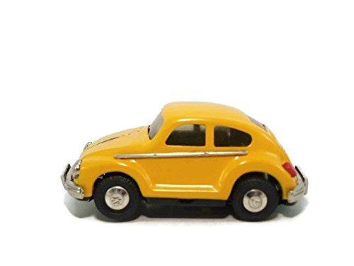 Juguete Vintage de Hojalata Coche Beetle Amarillo - Colección