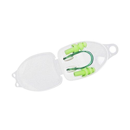 Un Conjunto De Accesorio De Natación Pinza de la nariz +Tapón de oído De natación de silicona