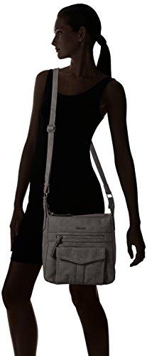 Tamaris Damen Adriana Schultertasche, 12 x 29 x 25 cm Schwarz (Black)