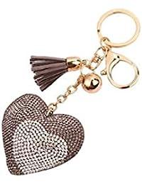 Banggood ELECTROPRIME Bag Keychain Bling Bling Key Ring Charm Decor Car Pendant Grey
