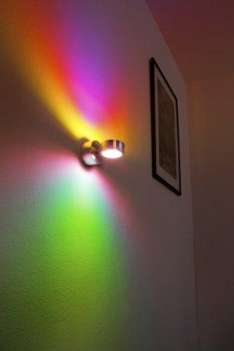 LED Wandleuchte mit magenta und grünem Farbfilter 2 x 3 Watt – 300 Lumen – 3000 Kelvin - 5