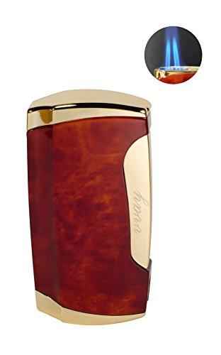 Preisvergleich Produktbild Jet Feuerzeug,Vvay Gas Sturmfeuerzeug Nachfüllbar,Zigarren Feuerzeuge,Camping Feuerzeug(Verkauft Ohne Gas )(Rot)