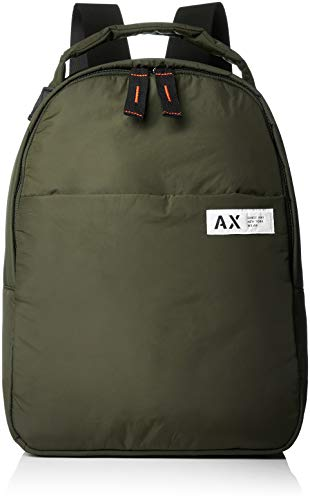 Armani Exchange Herren Backpacks Rucksack, Grau (Grey Climbing Ivy), 40.0x13.5x30.0 cm