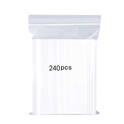 Wiederverschließbare Durchsichtige Plastikbeutel, Starke Wiederverwendbare Zip-Lock-Beutel, Verdickung und Haltbar, Drücken zu Schließen 7x10cm auf Küche Speicher Schmuck Verpackung Shopper 240PCS - Durchsichtigen Kunststoff-beutel