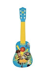 LEXIBOOK Toy Story Woody Buzz Mi Primera Guitarra, 6 Cuerdas de Nailon, 53 cm, guía incluida, Azul/Amarillo, K200TS, Color