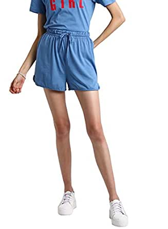 BESIVA Women's Solid Regular Shorts