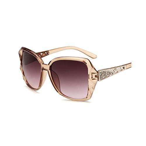 Sportbrillen, Angeln Golfbrille,NEW Vintage Big Frame Mirror Sunglasses Women Brand Designer Gradient Lens High Quality Sun Glasses Oculos De Sol C4