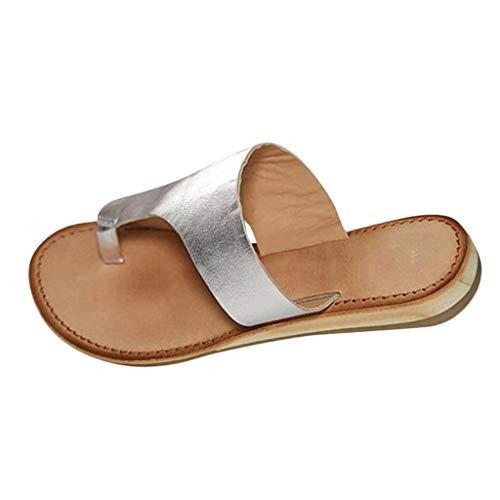 JYJM Damen Mode Sandalen große Freizeit Strandschuhe Sommer Rutschfest Bequeme Pumps Hausschuhe Atmungsaktiv Leichtgewicht Weicher Boden ()