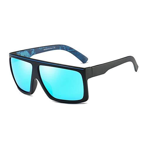 Easy Go Shopping Pouch & Cross Set Unisex-Sonnenbrille mit polarisierten Gläsern von Wellington Sonnenbrillen und Flacher Spiegel (Color : Hellblau, Size : Kostenlos)