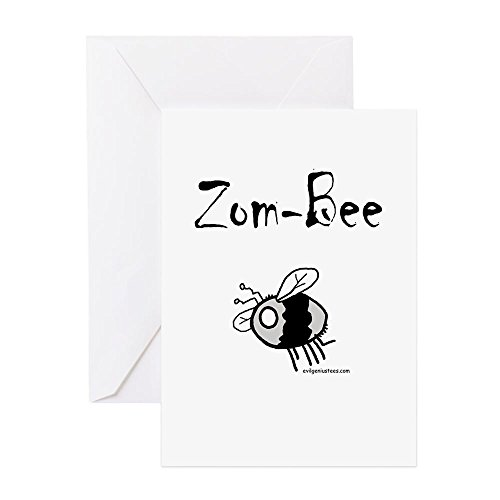CafePress–ZomBee Grußkarten–Grußkarte, Note Karte, Geburtstagskarte, innen blanko, (Halloween Kostüme Humorvoll)