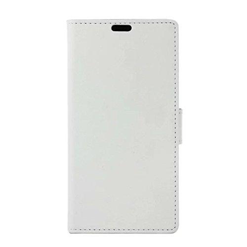 LG K7 Case, Kas Texture Korn-Muster PU-lederner Fall-Abdeckungs-fester Abdeckungs-Fall-horizontaler Schlag-Standplatz-Fall-Mappen-Kasten mit Karten-Schlitzen für LG K7 ( Color : White , Size : LG K7 ) White