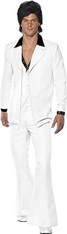 Disco Porter Costumes - Smiffys Costume Homme Disco Années 70, Pantalon,