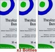 duos: 3 x Thealoz Duo Libre de conservantes 10ml para severo Seco ojos. NUEVO