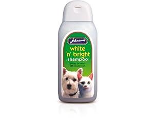 Johnsons Dog Cat White n Bright Grooming Shampoo for coat