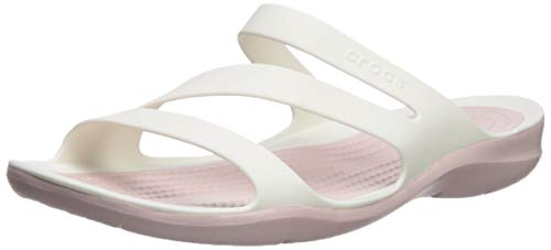crocs Damen Swiftwater W Peeptoe Sandalen, Weiß (White/ Rose Dust 0ez), 41/42 EU -