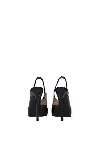 SW02202302 Philipp Plein Sandale Femme Cuir Noir Noir